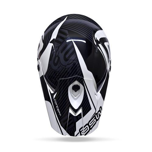 capacete concept asw preto 58 + brinde copo térmico
