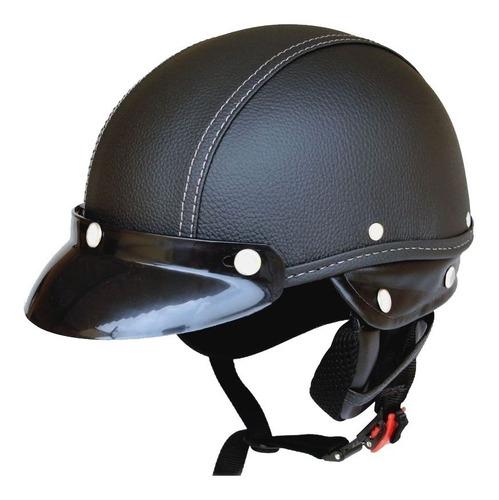 capacete coquinho kraft sport couro preto