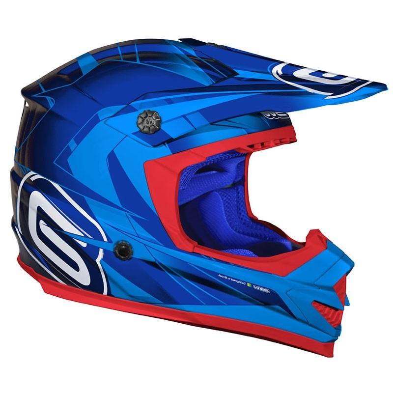 16edd64b3b4b1 capacete cross asw podium nirvana azul. Carregando zoom.