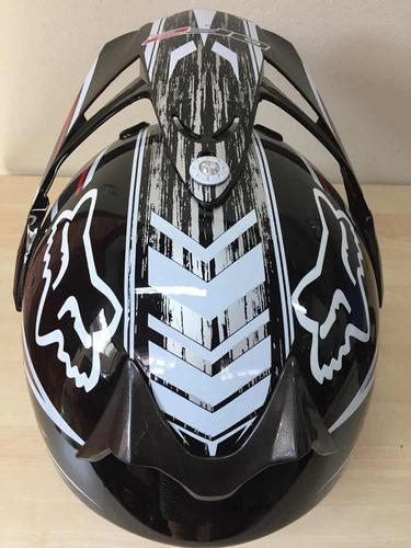 capacete cross df2 tam 58 com óculos espelhado