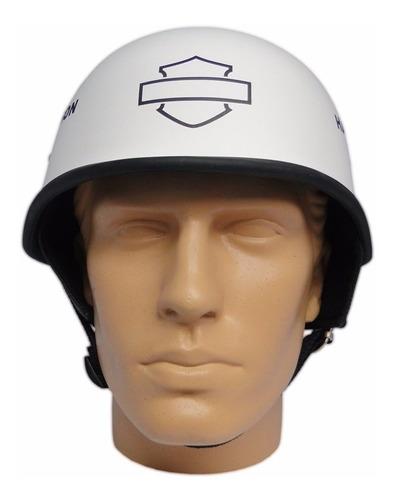 capacete custom m34 - branco out+bar&shield pt - m34c025