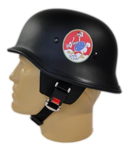 capacete custom m34 - preto senta pua - m34c093