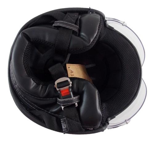 capacete custom sheriff preto shadow drag harley davidson