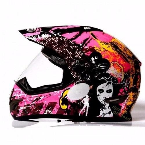 capacete c/viseira  helt cross vision rosa pink