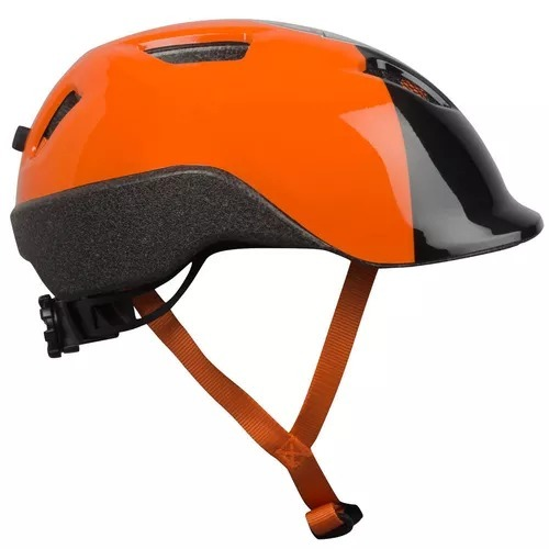 b0f7c775c Capacete De Ciclismo Infantil 520 Btwin Laranja - R  119