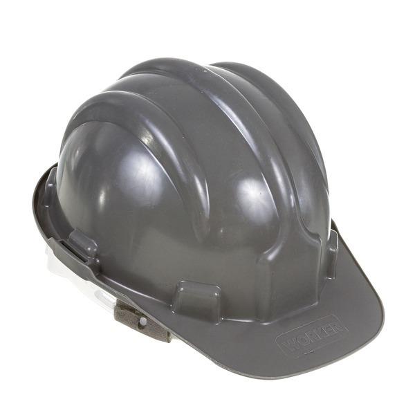 e4fef27761479 Capacete De Segurança Com Carneira Cinza 4unid Worker - R  49,99 em ...