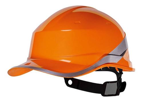 capacete de segurança diamond v laranja baseball