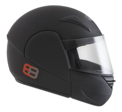 capacete e08 robocop 58 preto fosco articulado marca ebf