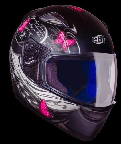 capacete ebf fechado feminino novo spark borboletas
