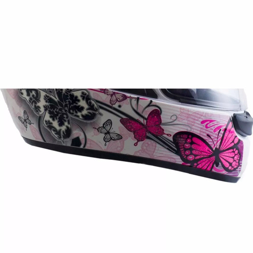capacete ebf feminino new spark borboleta diversas cores b07