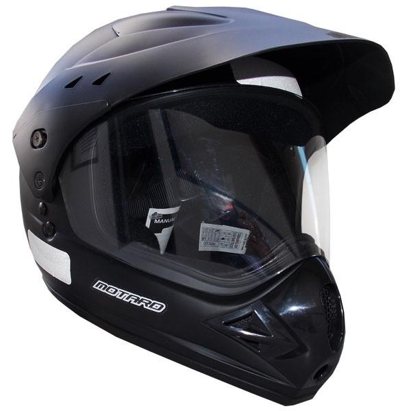 e6b170de48f38 Capacete Ebf Motard C  Viseira Motocross Trilha Preto Fosco - R  156 ...