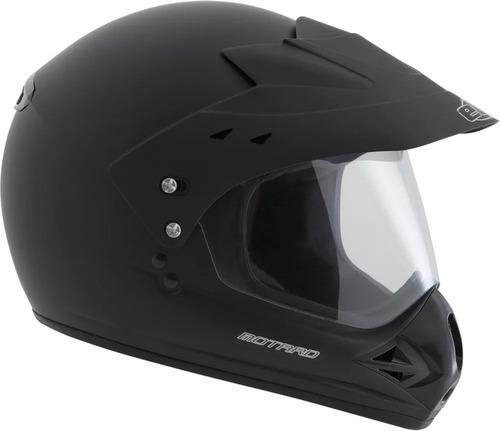 capacete ebf motard cros trilha com viseira preto fosco