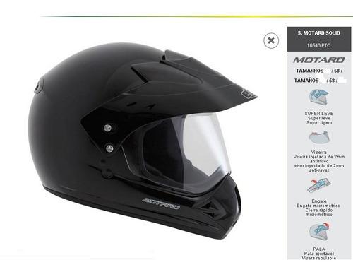 capacete ebf motard solid preto fosco viseira 2mm tamanho 58