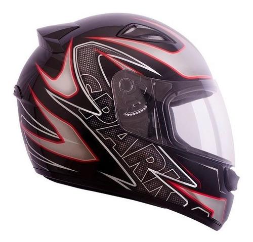 capacete ebf new spark titan preto vermelho 56 promoção