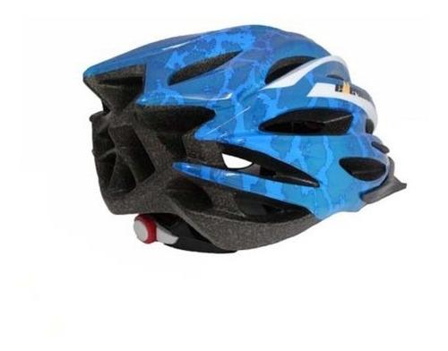 capacete elleven in mold azul / branco - tam. m