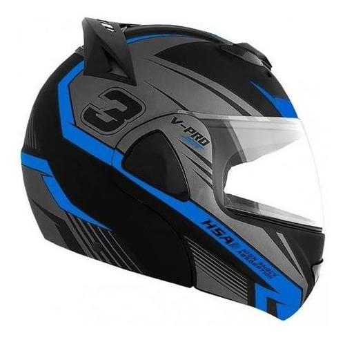 capacete escamoteável pro tork robocop articulado vpro jet 3