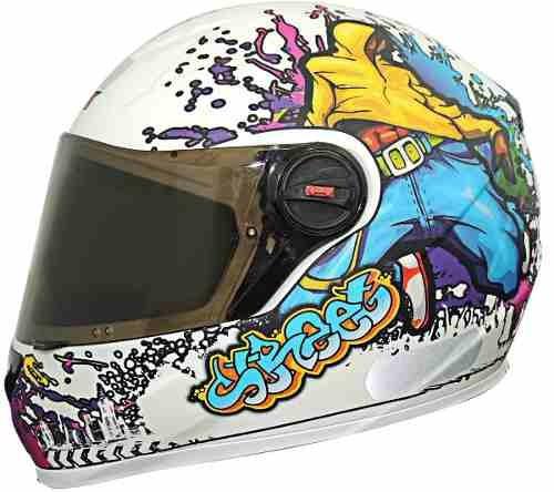 capacete esportivo fw3 street + brinde viseira fume +reparos