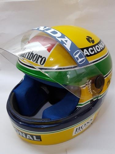capacete f1 brasil ayrton senna  pronta entrega uso ou expo