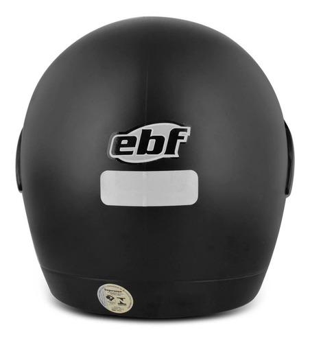 capacete fechado ebf rox er alto impacto preto fosco
