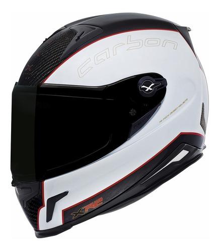 capacete fechado nexx xr2 carbon white 100% fibra de carbono