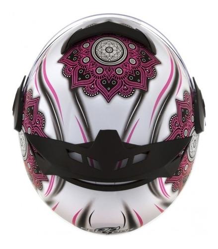 capacete fechado protork personalizado mandala femme 788
