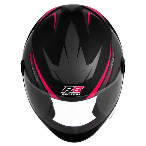 capacete fechado rosa r8 pro tork