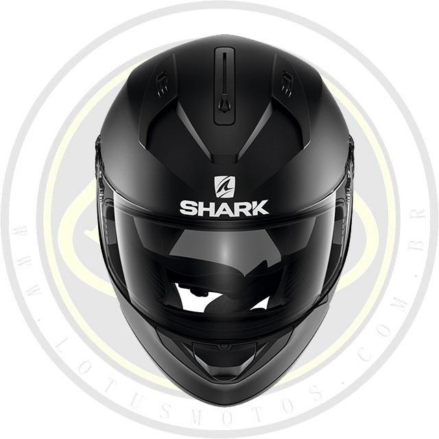 3195f91733552 Capacete Fechado Shark Ridill Preto Fosco Com Viseira Solar - R ...