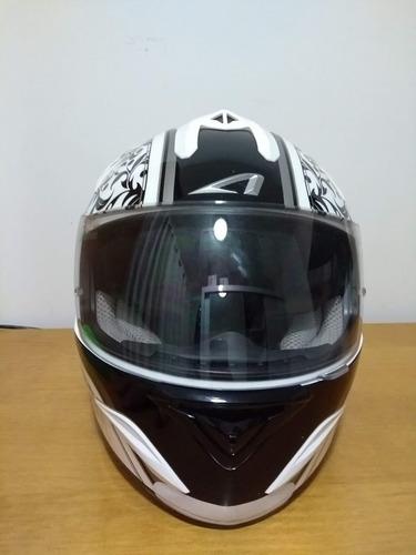 capacete feminino astone gtb valentin + viseira