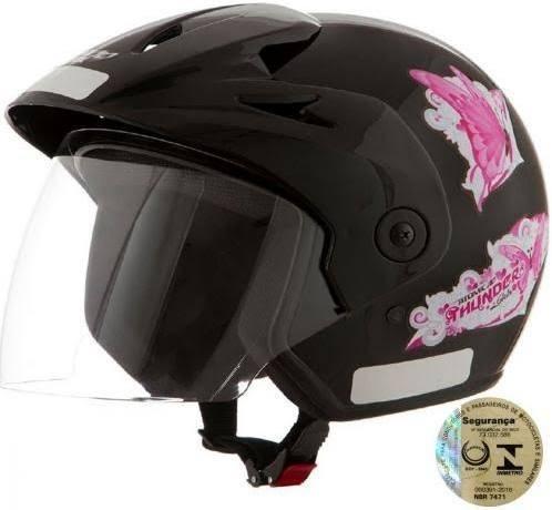 capacete feminino atomic 56 58 60 rosa preto branco