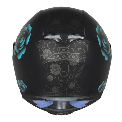 capacete feminino axxis mt flowers preto fosco