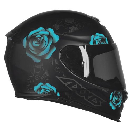 capacete feminino axxis mt flowers tiffany preto fosco