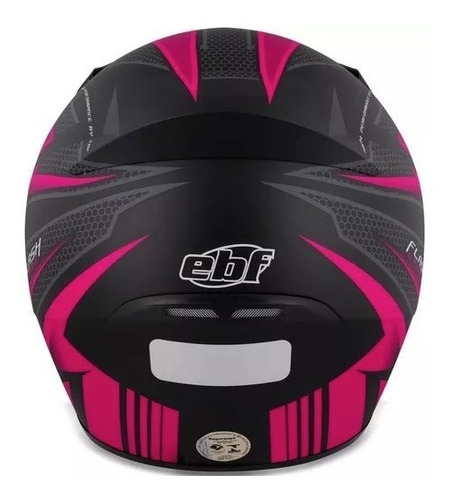 capacete feminino ebf new spark flash preto e rosa