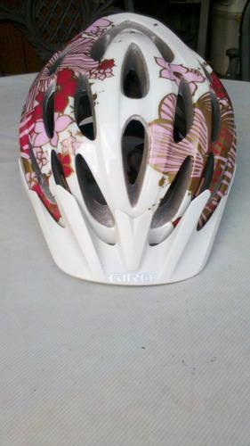 capacete feminino giro skyla florido rosa seminovo tamanho p