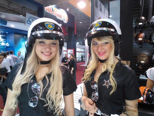 capacete feminino kraft laço branco custom harley + brinde