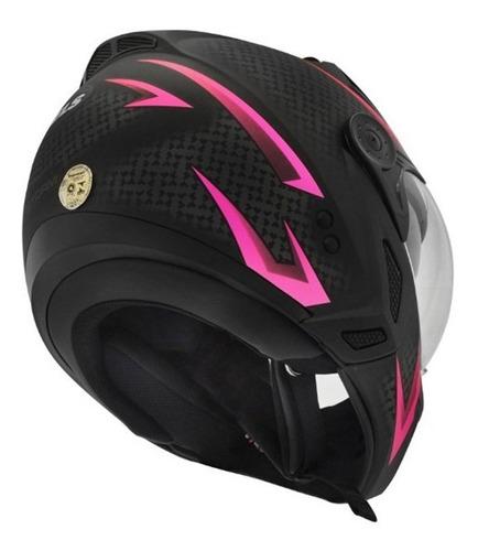 capacete feminino peels mirage storm preto/rosa 56