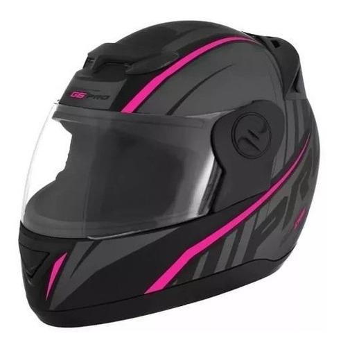 capacete feminino pro tork evolution g6 788 pro preto-rosa
