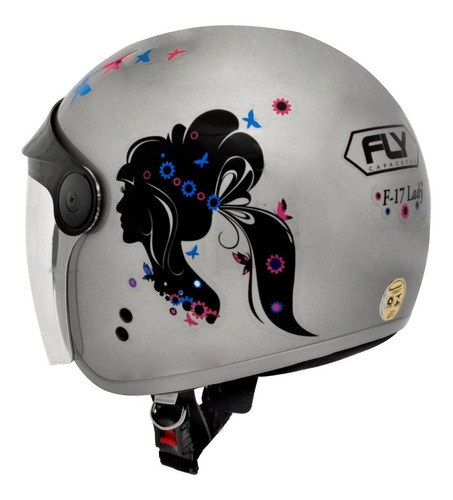 capacete fly f-17 lady boneca