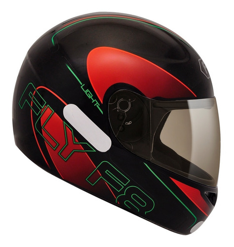 capacete fly f-8 light preto/vermelho lançamento
