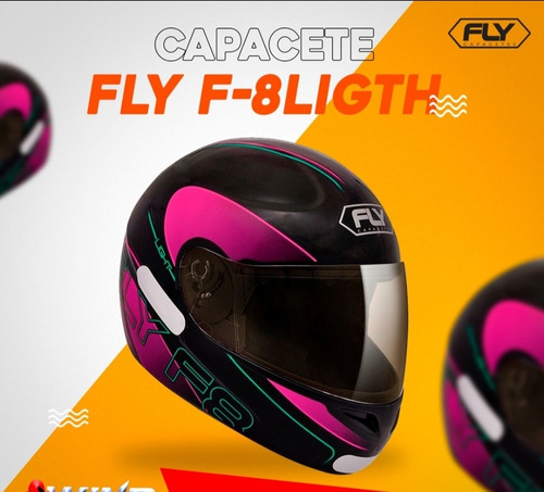 capacete fly f8 light