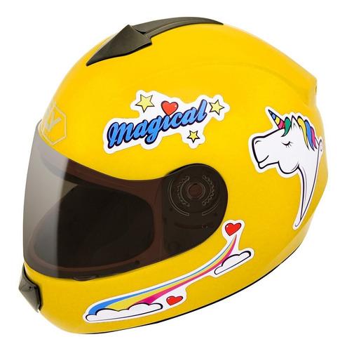capacete fly fun magical infantil unicórnio