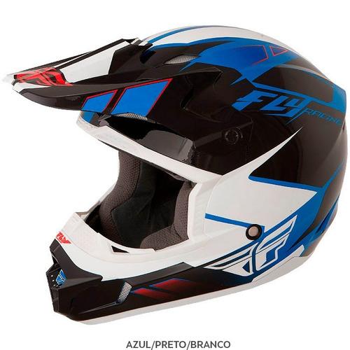 capacete fly kinect impulse juvenil pequeno (47-48cm) azul