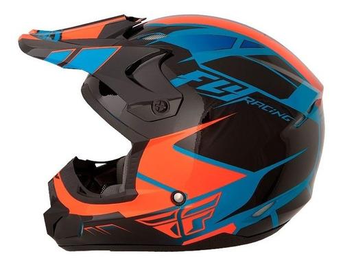 capacete fly kinect impulse trilha 60 grande motocross asw