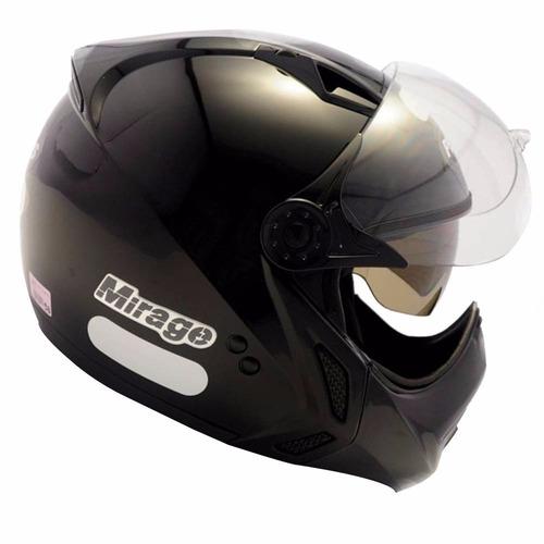 capacete frente removivel oculos peels mirage classic preto