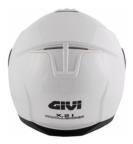 capacete givi x21 challenger branco brilhante tamanho 60
