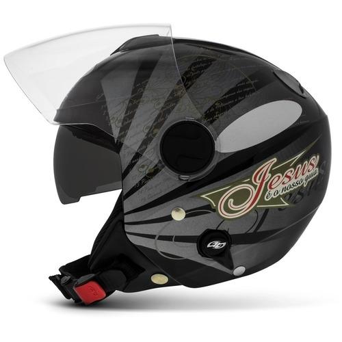 capacete gospel salmo 91 new atomic pro tork evolution moto