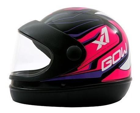 capacete gow preto/rosa