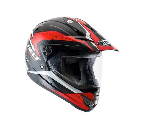 capacete helt cross vision triller zig vermelho/preto