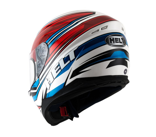 capacete helt new race step azul/vermelho