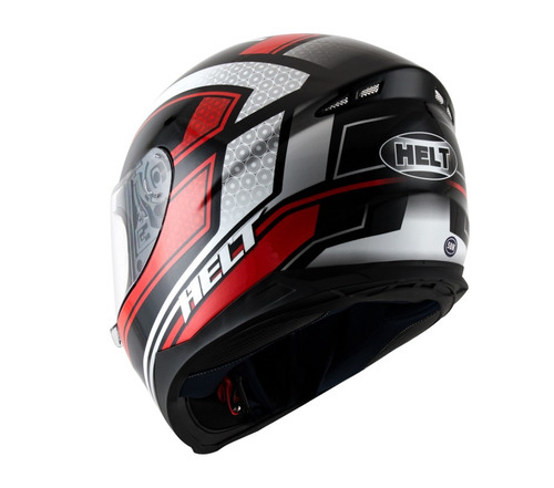 capacete helt new race twist preto/vermelho