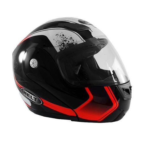 capacete hippo monkey 936 n 58 preto/vermelho